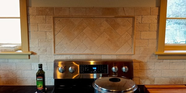 Stove tile backsplash