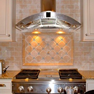 Kitchen stove tile | toscano tile and marble